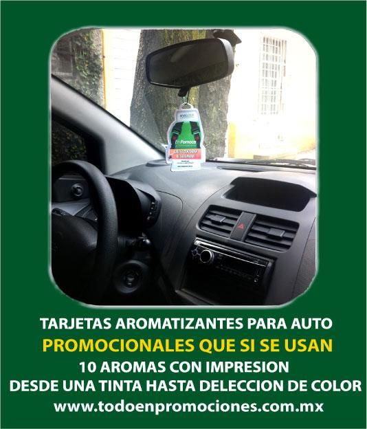 Aromatizantes personalizados para auto a todo color