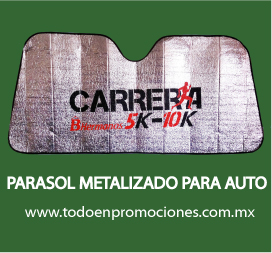 Parasol promocionales metalizado para autos