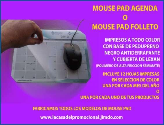 Mouse pad agenda