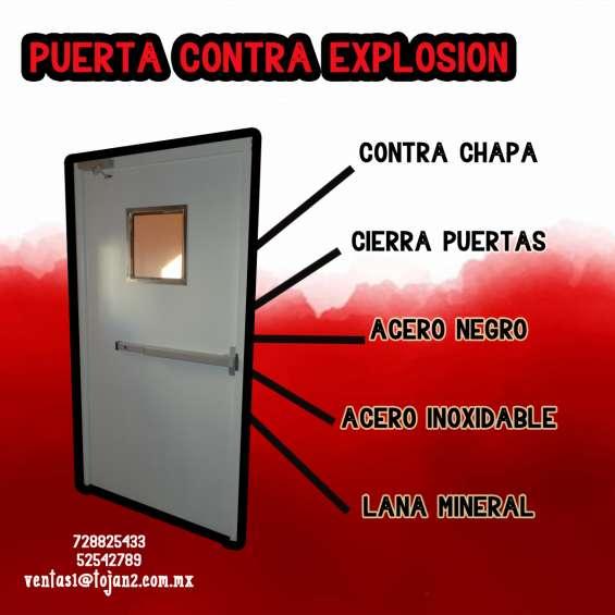 Puerta contra explosión
