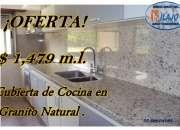 ¡¡PRECIOSA CUBIERTA PARA COCINA EN GRANITO GRIS NATURAL!!