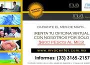 PROMOCIÓN EN RENTA DE OFICINAS VIRTUALES DESDE $600