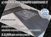 PLANCHA DE COCINA, DE OFERTA INIGUALABLE GRANITO NEGRO SAN GABRIEL $ 2399 M.L. ,
