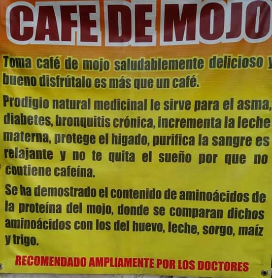 Cafe de mojo o capomo