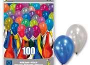 Trabaja empacando globos para fiestas