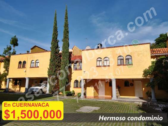 Como nueva, vendo casa con alberca en bonito condominio a 5 min. ctro. cuernavaca 4 rec.
