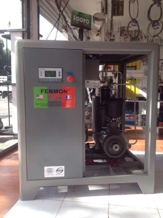 Compresor de tornillo de 10 hp marca fermon 220/440v