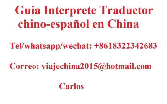Guia interprete traductor chino en taian shandong