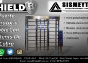 Puerta Giratoria Doble Con Con Sistema De Cobro SHIELD 3