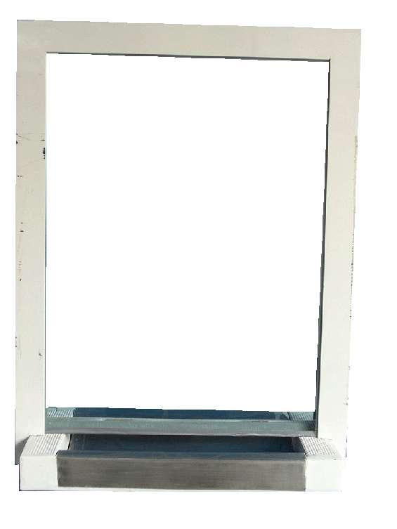 Ventanilla blindada shield 3  ventanilla blindada nivel lll con pasa documentos fabricada en acero inoxidable y marco perimetral en acero al carbón con terminación de pintura en medidas de 57 cm x 75 cm y vidrio blindado de 32 mm claro  para mas informacio