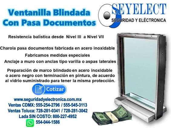Ventanilla blindada seyelect
