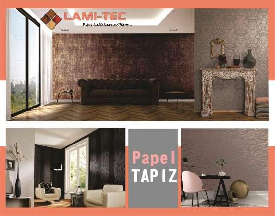 Papel tapiz, piso laminado, persianas y mucho mas en lami-tec